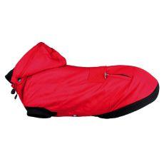 Zimní bunda Palermo pro psa s kapucí, červená S – 33 cm