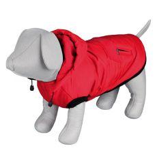 Zimní bunda Palermo pro psa s kapucí, červená – 40 cm