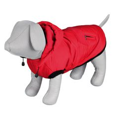 Zimní bunda Palermo pro psa s kapucí, červená – 50 cm