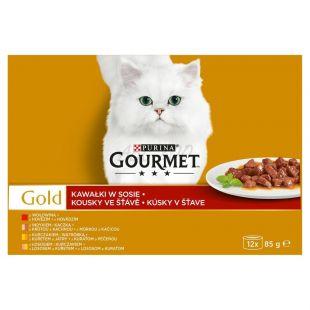Konzerva Gourmet GOLD – kousky ve šťávě, 12 x 85 g