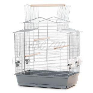 Klec pro papouška IZA III chrom - 58,5 x 38 x 65 cm