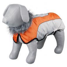 Kabát Trixie Laval béžovo-oranžový, L 55 cm