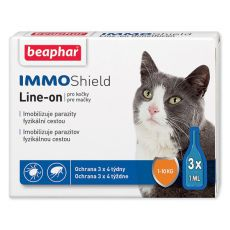 BEAPHAR IMMO SHIELD Line-on KOČKA 3 x 1 ml