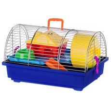 Klec pro křečka – GRIM I ZINC s plastovou výbavou