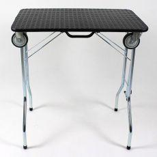 Stůl trimovací skládací s kolečky 90 x 55 x 85 cm, černý