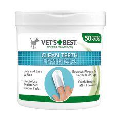 Čisticí utěrky na zuby pro psy VET´S BEST, 50 ks