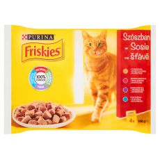 Kapsičky FRISKIES – maso v omáčce, 4 x 100 g
