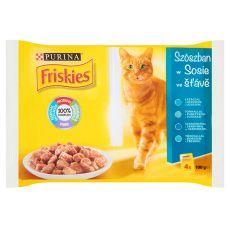 Kapsičky FRISKIES – ryby v omáčce, 4 x 100 g