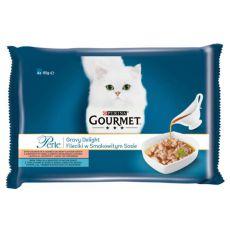 Kapsičky GOURMET PERLE Gravy Delight – ryby, 4 x 85 g