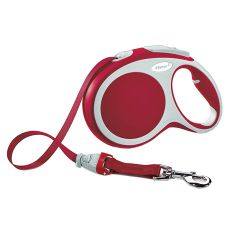 Flexi Vario L vodítko do 60 kg, 5m popruh – červené
