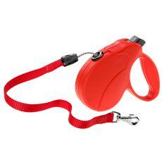 Vodítko Amigo Easy Medium do 25 kg – 5m lanko, červené