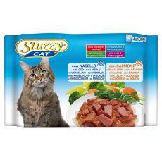 Stuzzy Cat kapsičky MULTIPACK treska + losos 4 x 100 g