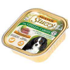 Vanička Mister STUZZY Dog – telecí a mrkev, 150 g