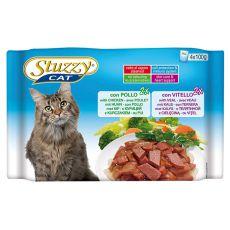 Stuzzy Cat kapsičky MULTIPACK kuřecí + telecí 4 x 100 g