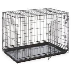 Klec Dog Cage Black Lux – 2x dvířka, XL – 107,5 x 74,5 x 80,5 cm