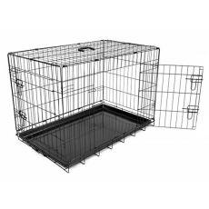Klec Dog Cage Black Lux – 2x dvířka, L – 91 x 59 x 65,5 cm
