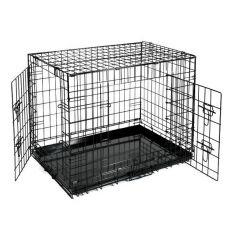 Klec Dog Cage Black Lux – 2x dvířka, XS – 50,8 x 33 x 38,6 cm