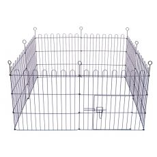Ohrádka Dog Park Black Lux 8 hran, XL – 61 x 106 cm