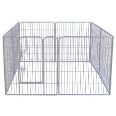 Ohrádka Dog Park Grey Lux 8 hran, XXL – 80 x 106 cm