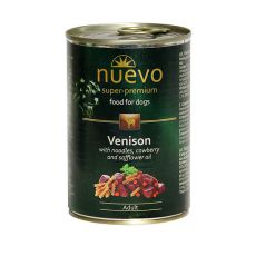 Konzerva NUEVO DOG Adult Venison Menue 400 g