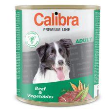 Konzerva CALIBRA Premium Adult – hovězí a zelenina, 800 g