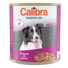 Konzerva CALIBRA Premium Adult – zvěřina a hovězí, 800 g