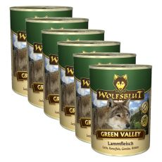 Konzerva WOLFSBLUT Green Valley, 6 x 395 g