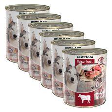 New BEWI DOG konzerva – Hovězí maso 6 x 800g, 5+1 GRATIS