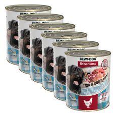 New BEWI DOG konzerva – Drůbeží srdce 6 x 800 g, 5+1 GRATIS
