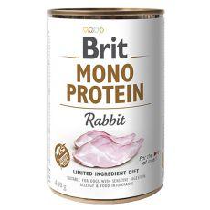 Konzerva, Brit Mono Protein Rabbit, 400 g