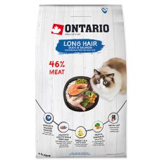 Ontario Cat Long Hair Duck & Salmon 6,5 kg