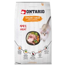 Ontario Cat Short Hair Duck & Chicken 6,5 kg