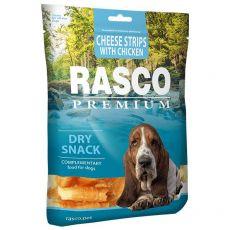 RASCO PREMIUM proužky sýra obalené kuřecím masem 80 g