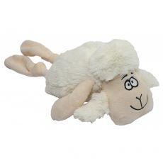 Plyšová pískací bílá ovce, 35 cm