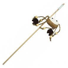 Hračka pro kočku – krab na dřevěné tyčce