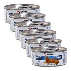 ONTARIO Cat Chicken Pieces + Salmon 6 x 95 g