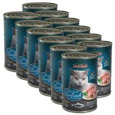 Konzerva pro kočky Leonardo - Ryba 12 x 400g