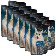 Kapsička Leonardo pstruh a kočičí tráva, 12 x 85 g