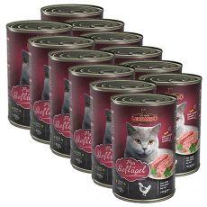 Konzerva pro kočky Leonardo - Drůbež 12 x 400g