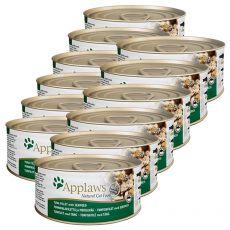 Applaws Cat - konzerva pro kočky s tuňákem a mořskými řasami, 12 x 70g