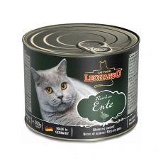 Konzerva pro kočky Leonardo, kachna 200 g