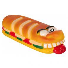 Hračka pro psa – Pískací vinylová bageta 18 cm