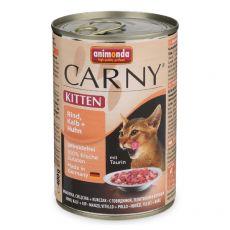 Krmivo CARNY KITTEN hovězí, telecí + kuře 400 g