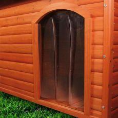 Dvířka na boudu pro psa, plastová – 33 x 44 cm
