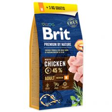 Brit Premium by Nature Adult Medium 15 kg + 3kg GRATIS