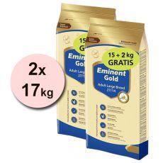 EMINENT GOLD Adult Large Breed 2 x 15 kg + 4 kg GRATIS