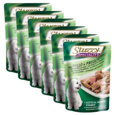 Stuzzy Speciality Dog – kuřecí se šunkou, 6 x 100 g