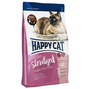 Happy Cat Sterilised Voralpen Rind / Hovězí 1,4 kg