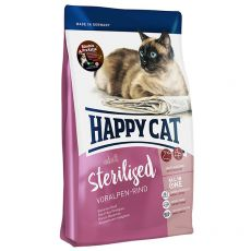 Happy Cat Sterilised Voralpen Rind / Hovězí 4 kg