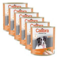 Konzerva CALIBRA Premium Adult – kuře, 6 x 800 g, 5 + 1 GRATIS